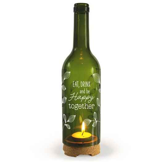 Happy together- wine candle