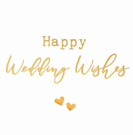 Happy wedding wishes - wenskaart