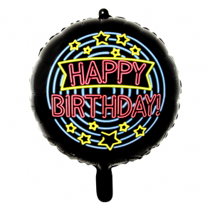 Happy birthday - folieballon neon