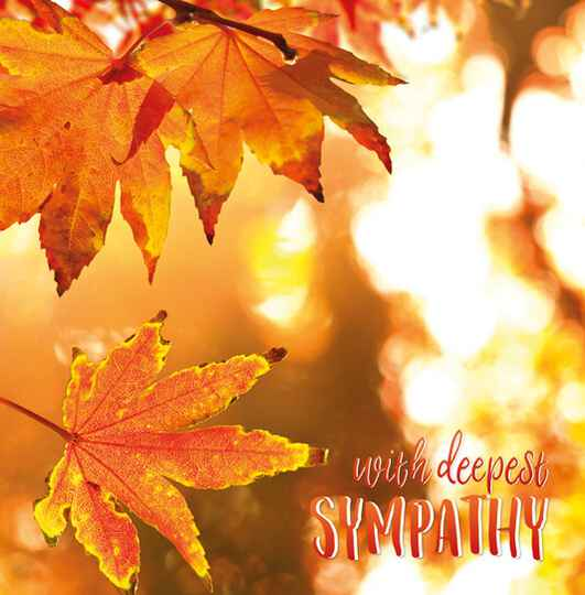 With deepest sympathy - condoleancekaart
