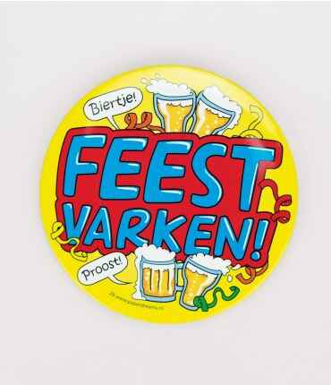 Feestvarken - button XL