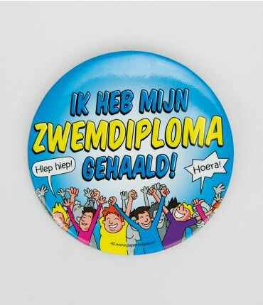 Zwemdiploma - button XL