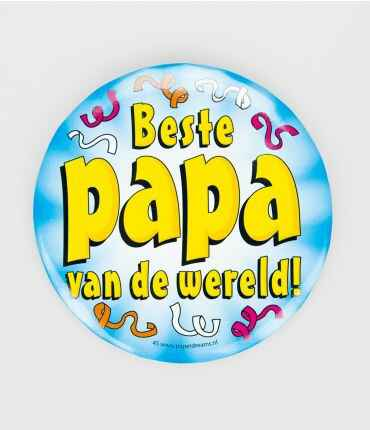 Beste papa - button XL