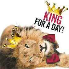 King for a day! - wenskaart