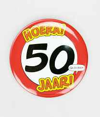 50 Jaar - button XL