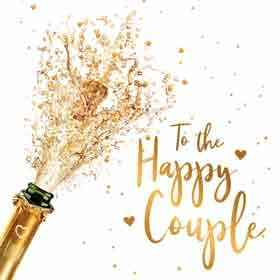 To the happy couple -  wenskaart