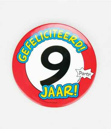 9 Jaar - button XL