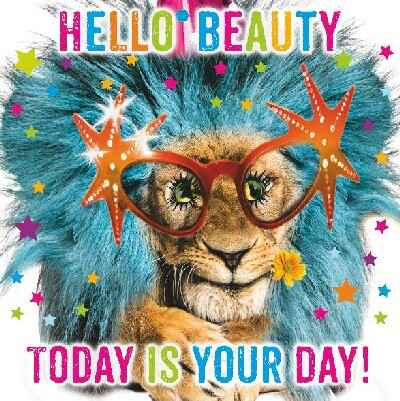 Hello beauty today is your day! - wenskaart