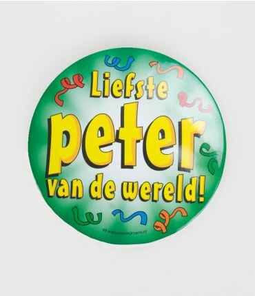 Liefste peter - button XL