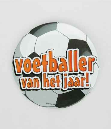 Voetballer - button XL