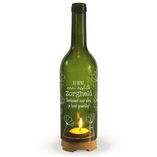 Zorgheld - wine candle