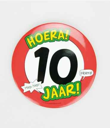 10 Jaar - button XL