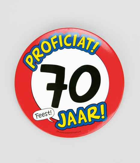 70 Jaar - button XL