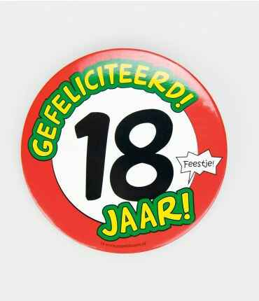 18 Jaar - button XL