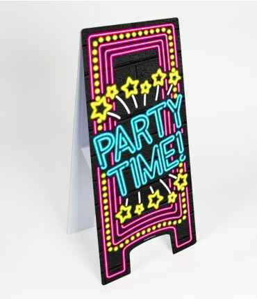 Party time - warning sign neon
