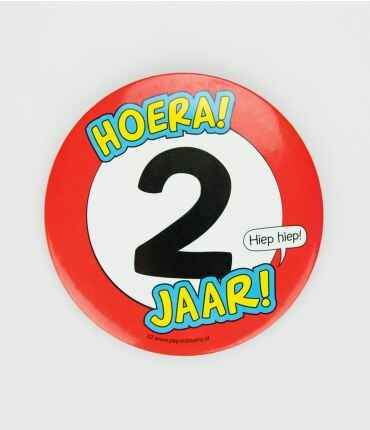 2 Jaar - button XL