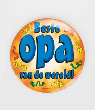 Beste opa - button XL