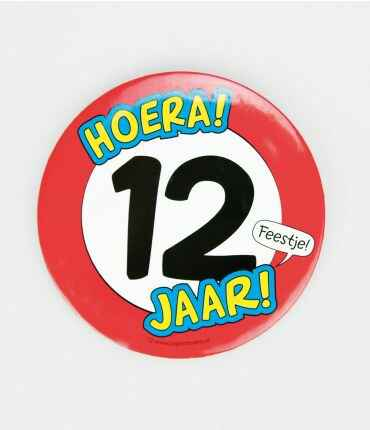 12 Jaar - button XL