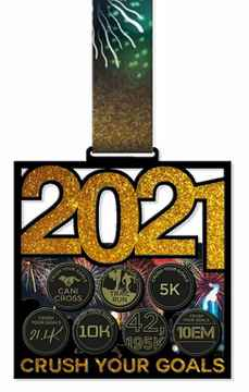 Crush Your Goals 2021 Basis Medaille