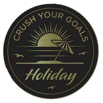 Crush Your Goals 2021 Pin Holiday