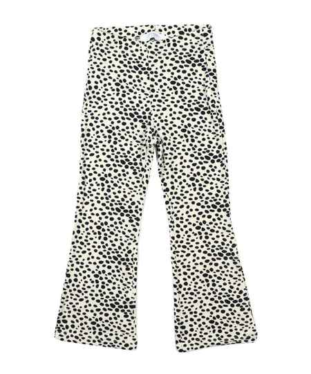 Kids flared pants cheetah beige