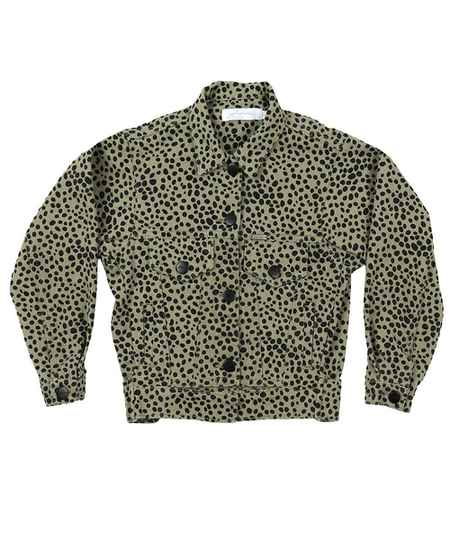 Kids jacket cheetah groen