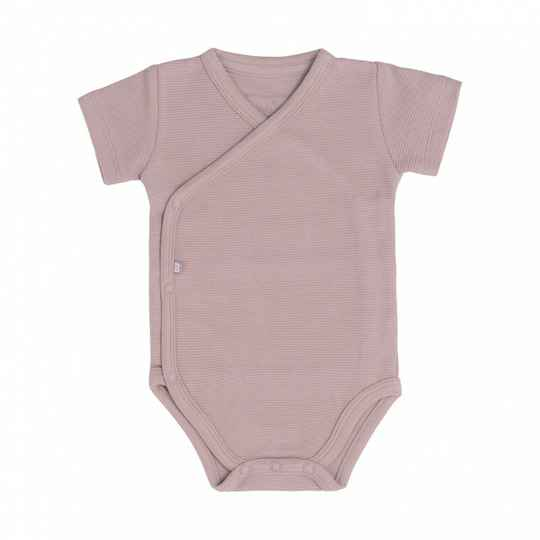 Baby's only rompertje oudroze rib