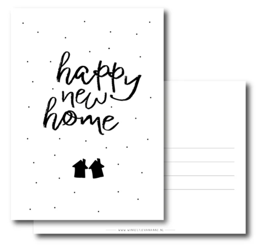 Ansichtkaart - happy new home