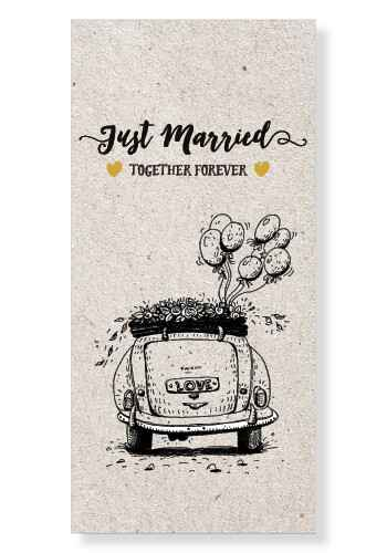 Wenskaart - Just married