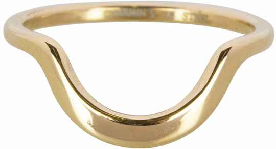 Half moon plain ring