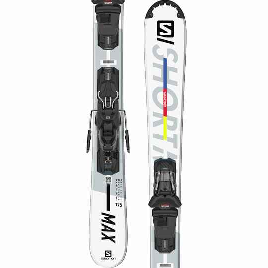 Snowblades Salomon ShortMax White/Silver 125cm Model 2021