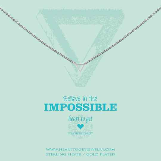 Heart to Get Collier Small Triangle N248STR15S