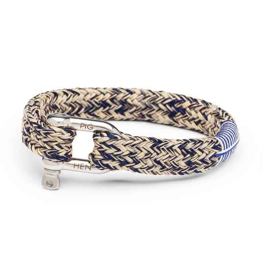 Armband Pig & Hen Gorgeous George Navy / Sand | Silver