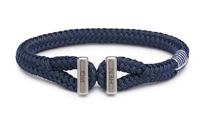Armband Pig & Hen Icy Ike Navy | Silver