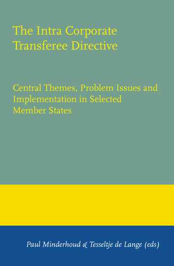 The Intra Corporate Transferee Directive