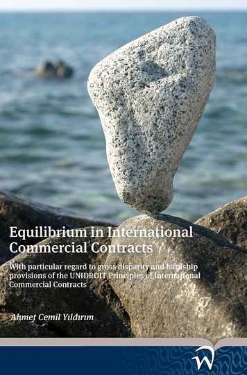 Equilibrium in International Commercial Contracts