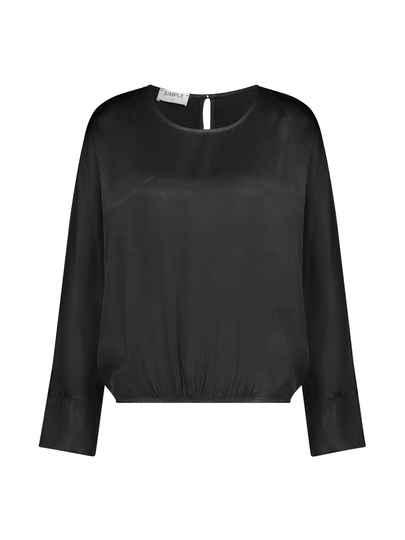 AW22 Simple woven blouse black