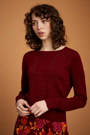 AW22 King Louie Cable Top Droplet Beet Red 06380 601