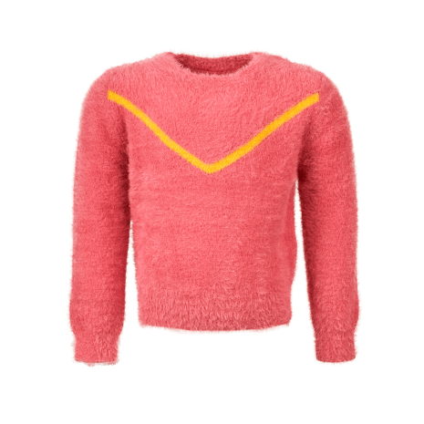 Someone Sweater Ribby-SG-12-B Old Pink