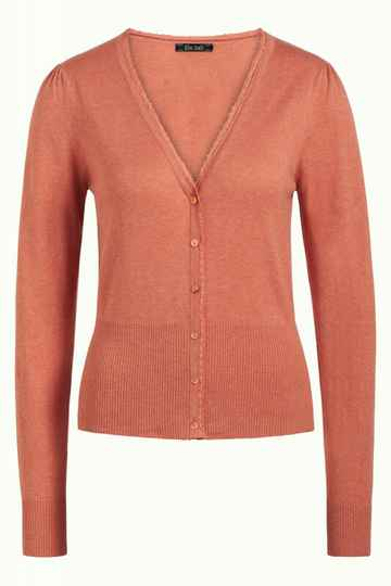 Basis-D SS21 King louie cardi V-neck cocoon dusty rose