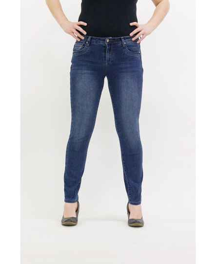 Basis-D Red Button Jeans Jimmy mid stone used