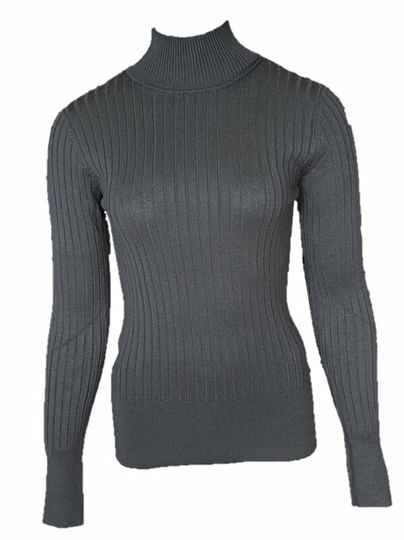 AW22 Red Button Turtle Neck Top SRB2940 black