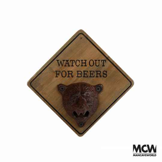 Flessenopener ''Watch out for Beer""