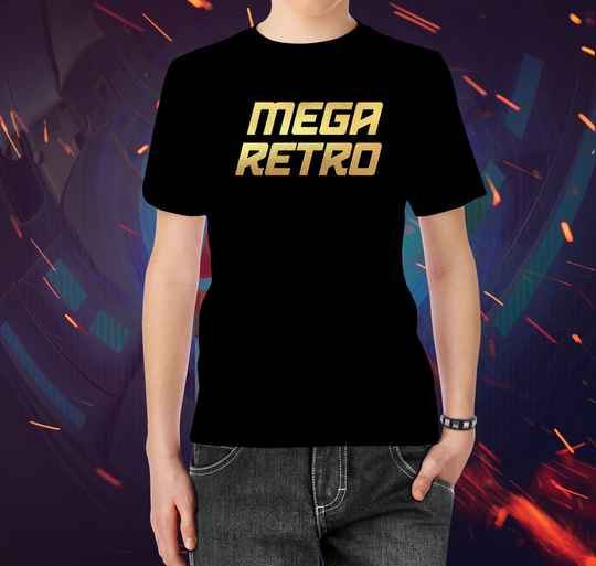 T-shirt Mega Retro Gold (M)