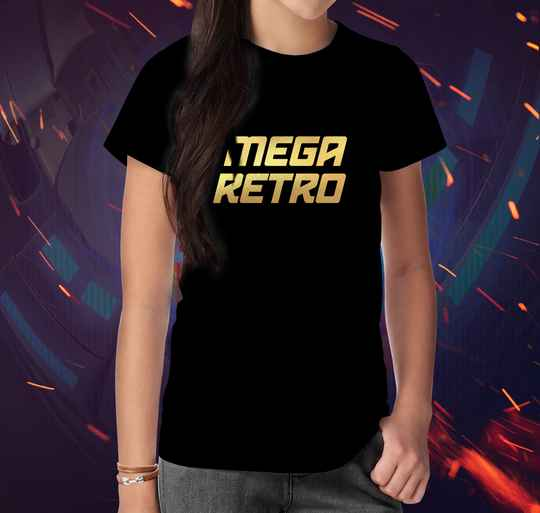T-shirt Mega Retro Gold (V)
