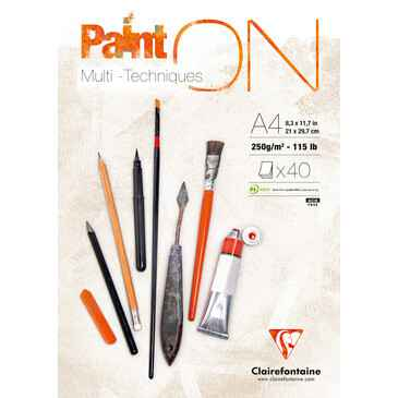 Clairefontaine Paint ON, painting pad, 250g, 40 sheets