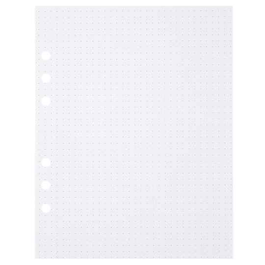 (Art. no. 920812) 50 vel MyArtBook Paper 150 GMS Dotted Paper Size 165 x 210 mm (A5) - 6 punch holes - perforation