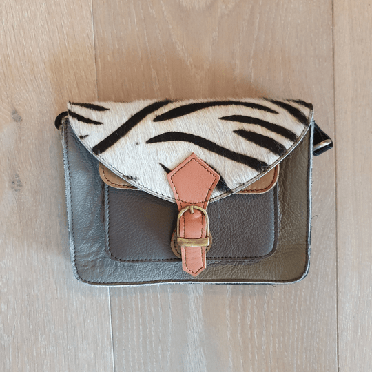 Mini bag groen/zebra