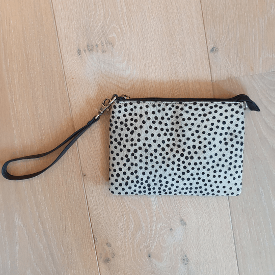 Clutch bag - wit/stip