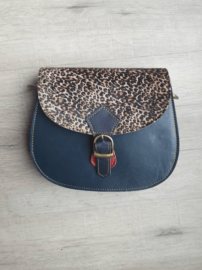 Animal Bag - Blauw/panter